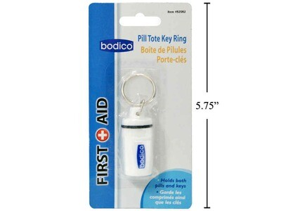 Bodico Pill Case With Key Ring