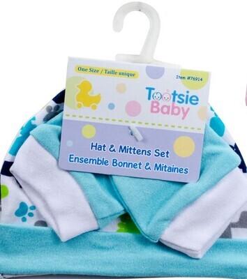 Tootsie Baby ,Cotton Hat/Mittens Set