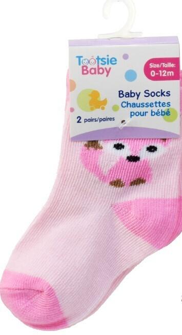 Tootsie Baby,2-pk Baby Girl Socks