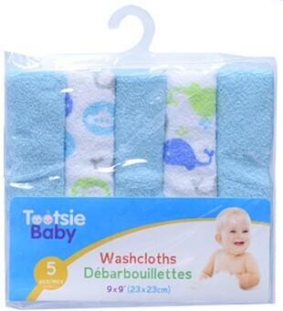 Tootsie Baby, 5-pc Washcloth