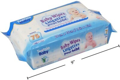 Tootsie Baby, 75-pc Baby Wipes-Unscented