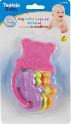 Tootsie Baby, Bear Keys Rattle Teether