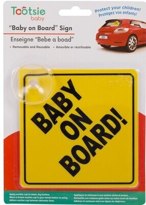 Tootsie Baby, Baby On Board Sign w/ Suction Cup