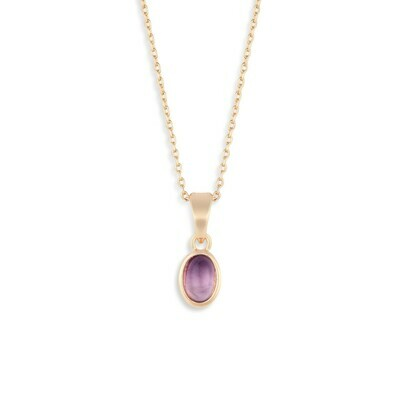 GOLD GIVING NECKLACE - AMETHYST