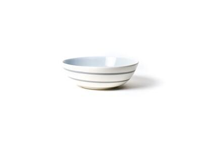Neutral Nouveau Small Grey Stripe Bowl