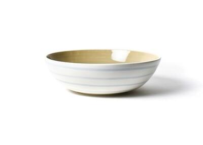 Neutral Nouveau Large Blue Stripe Bowl