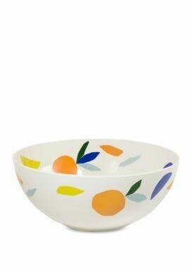 Citrus Twist Melamine Serving Bowl