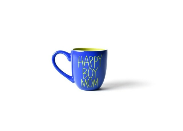 Happy Boy Mom Cobalt Mug