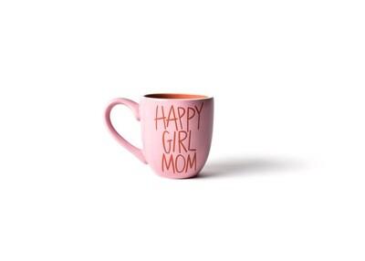 Happy Girl Mom Pink Mug