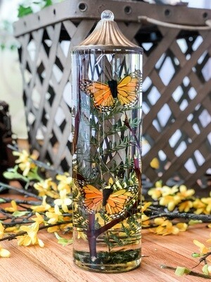 Orange Monarch Butterfly Cylinder Lifetime Candle