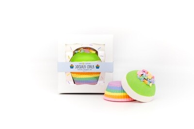 Rainbow Cupcake Handmade Sidewalk Chalk