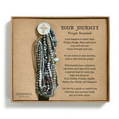Your Journey Gray Prayer Bracelet