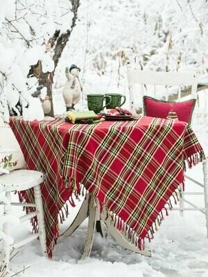 Fireside Tartan Plaid Tablecloth