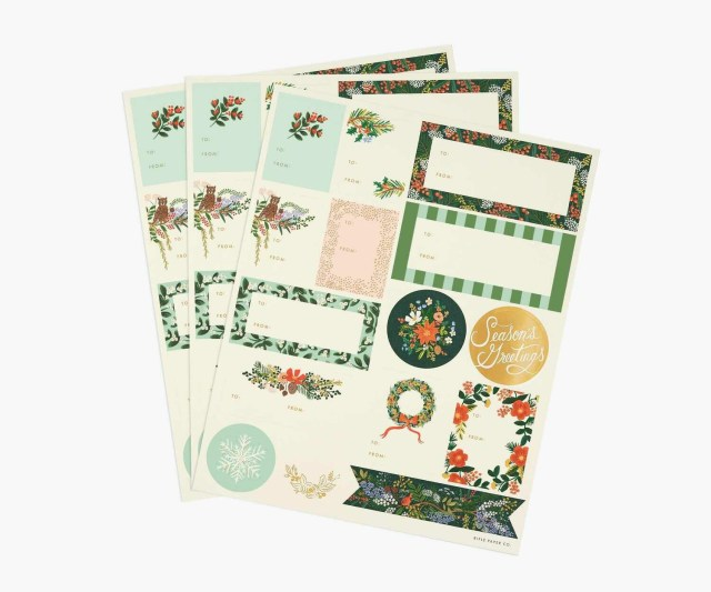 Winter Floral Gift Stickers Pack/3