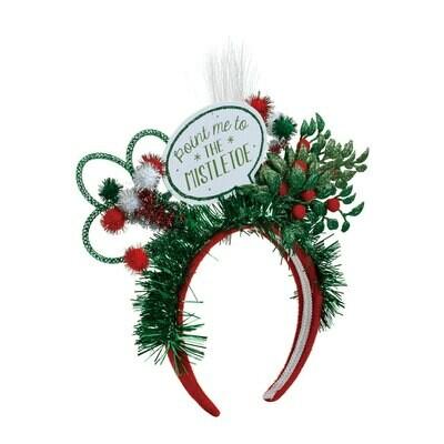 Lit Point Me To The Mistletoe Headband