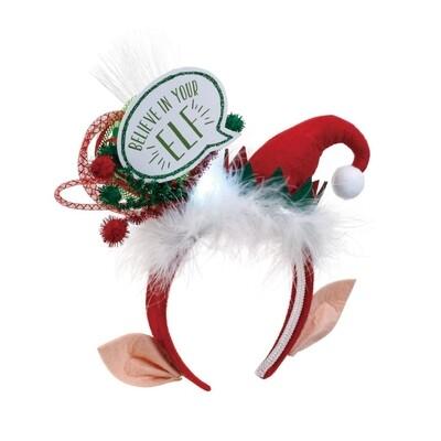 Lit Believe in Your Elf Headband