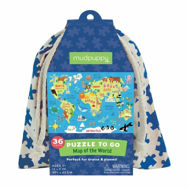 Map Of The World Puzzle-To-Go