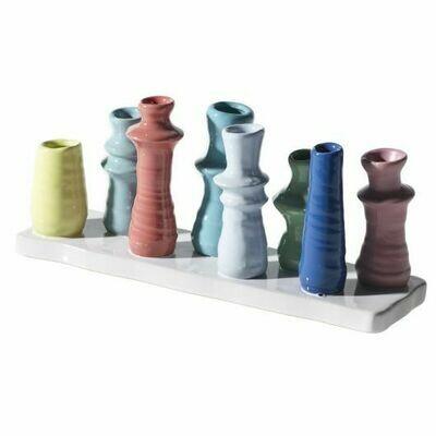 Rainbow Bud Vase Display