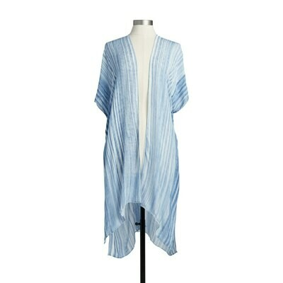 Blue Striped Duster