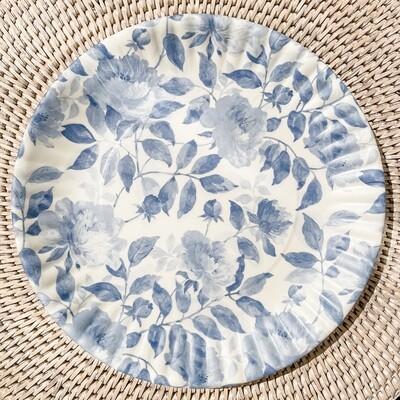 Blue Rose Melamine Plate