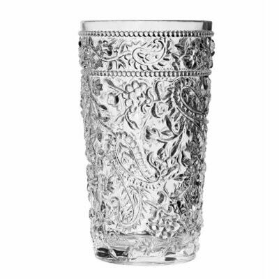 Paisley Clear Acrylic Hi-Ball Glass