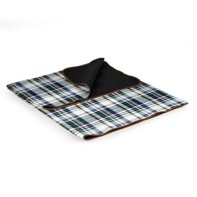 XL English Plaid Picnic Blanket Tote