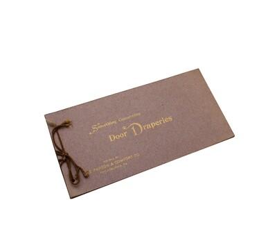 Paxson & Comfort Co. Salesman Booklet Funeral Draperies