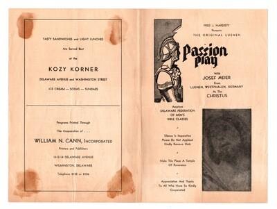 Passion Play DE Fed of Men's Bible Classes 1930s