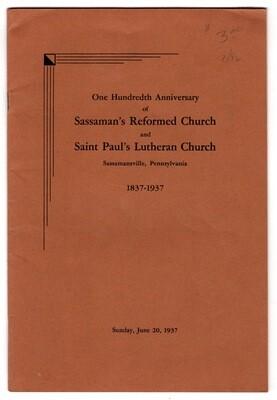 Sassaman's Reformed Church Centennial 1937