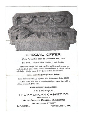 American Casket Company Advertisement