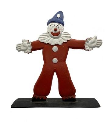 Cast Iron Clown Doorstop