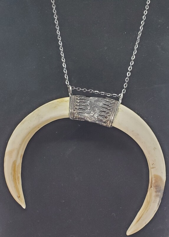 Small Double Tusk Ritual Necklace