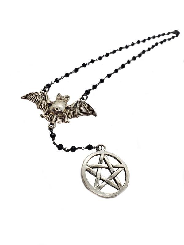Bat and Pentagram Rosary