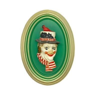 Mira Fujita - Christmas Clown Wall Plaque