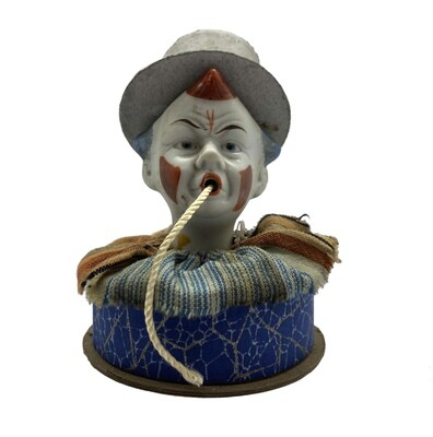 Bisque Clown Candy Container