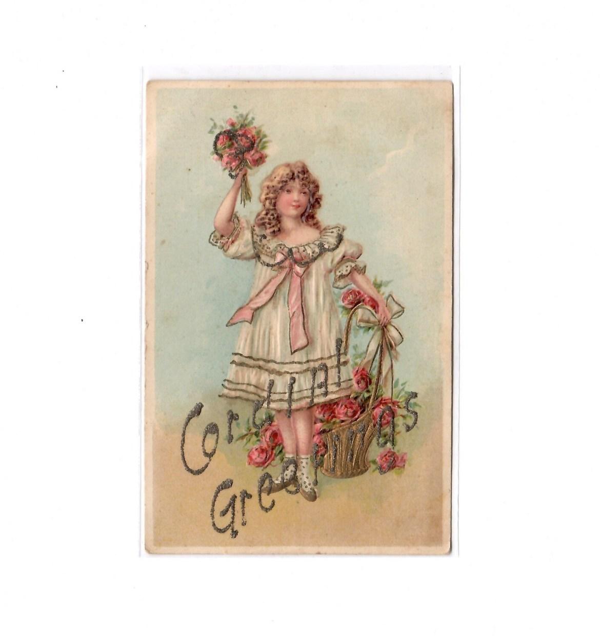1907 Cordial Greetings Postcard