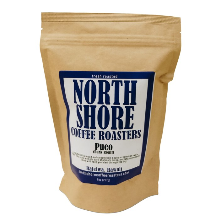 Pueo Dark Roast Coffee, 8 oz - Ground
