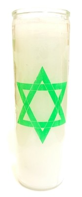 7 Day Candle- Psalm (White)