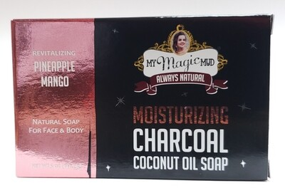 My Magic Mud Moisturizing Charcoal Coconut Oil Soap - Pineapple Mango