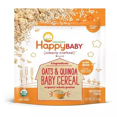 Organics Happy Baby : Oats & Quinoa Baby Cereal