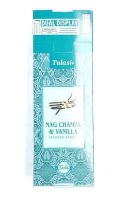 Tulasi: Nagchampa & Vanilla Stick Incense Box (6 Units 15 Sticks each)