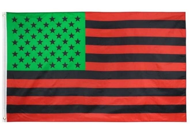 Red, Black & Green USA Flag