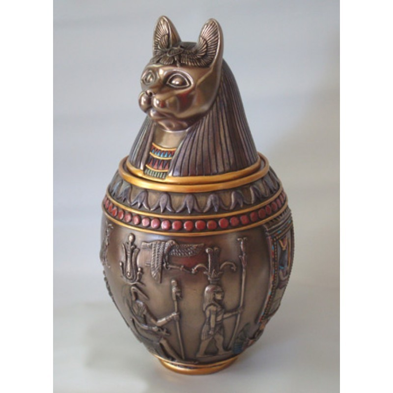 Kemetic (Egyptian) Canopic Jar Bastet