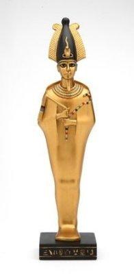 Osiris Gold Egyptian God Statue