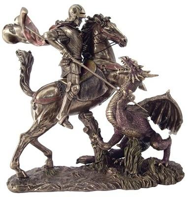Saint George Slaying the Dragon - Statue