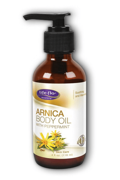 Life-flo Arnica Body oil with peppermint  4 fl oz