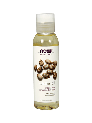 Now Solutions-Castor Oil 100% Pure Versatile Skin Care 4 fl.oz
