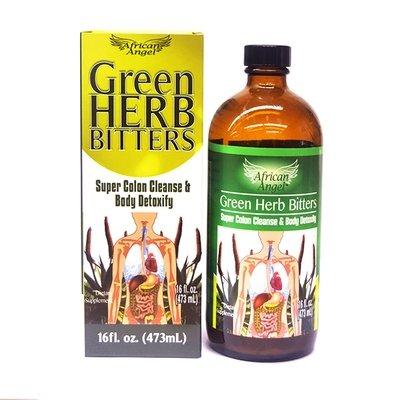 Green Herb Bitters - Super Colon Cleanse & Body Detoxify 16oz