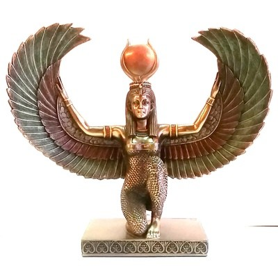 Winged Aset (Isis) Statue