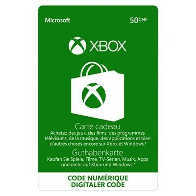 XBOX 50 FR. ***GRATUIT / CARD